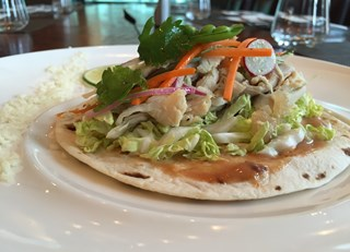 Roasted Chicken Tacos with Pickled Summer Vegetables & BBQ Aioli