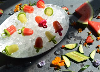 Cucumber Gin and Watermelon-Mint Tequila  Popsicles