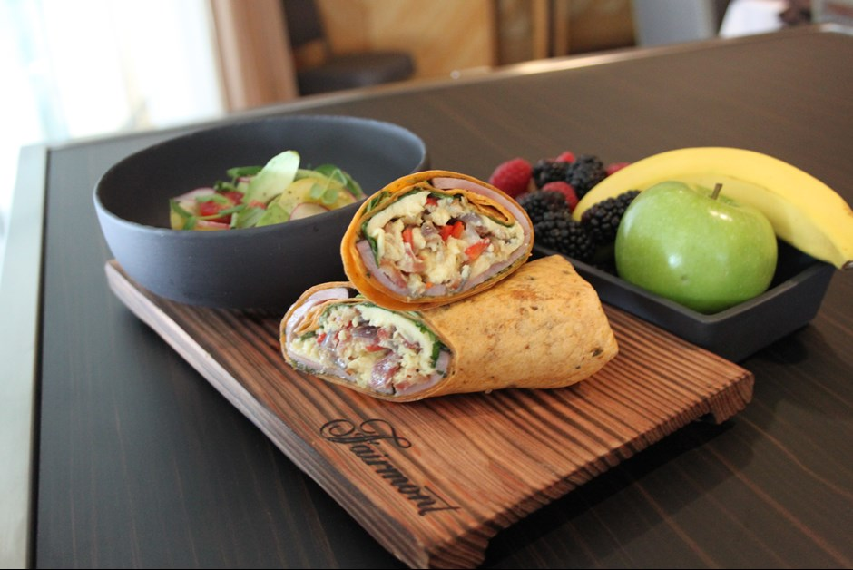 Wrap it up! Easy breakfast wraps for business meetings
