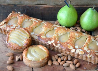 Honey Glazed Pear Almond Tart
