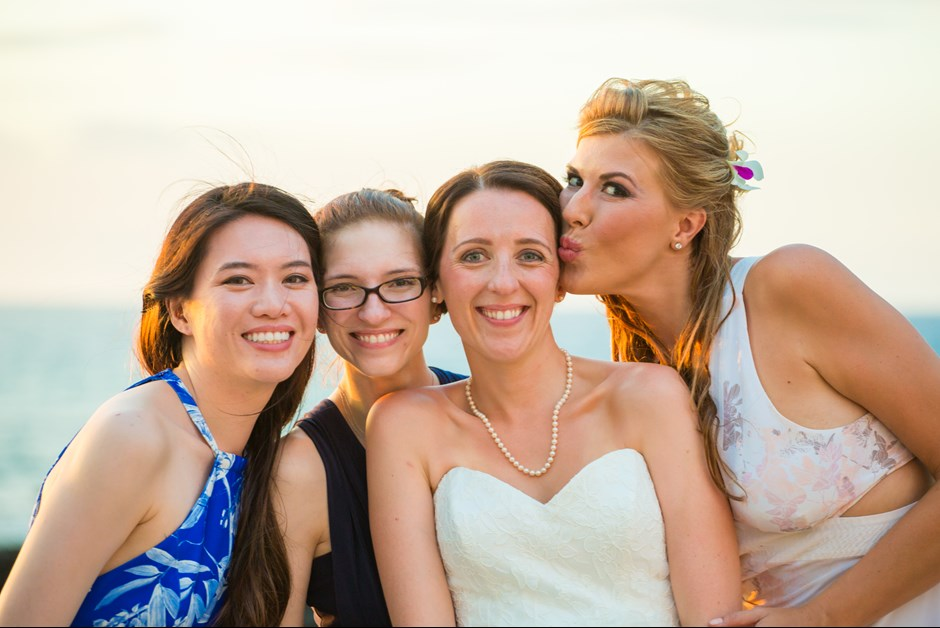 Bride and best friends