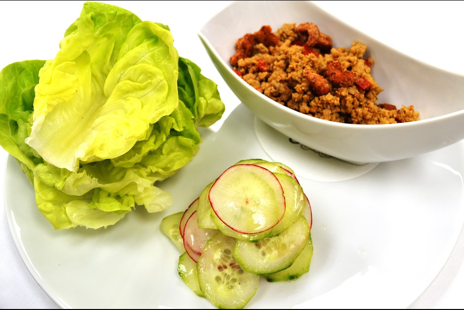 Sweet and Spicy Pork lettuce wraps: Fairmont Moments