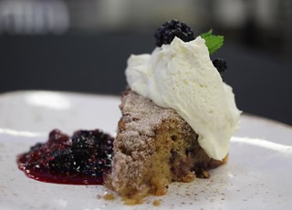 Blackberry Pear Cake