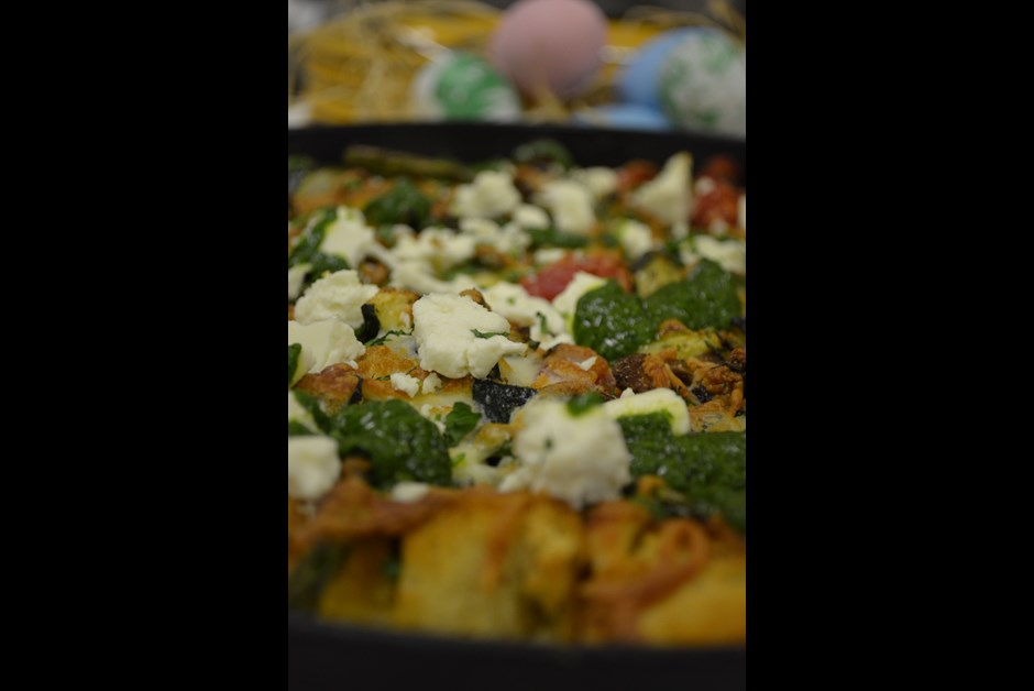 Roasted Vegetable and Salt Spring Island Goat Cheese Strata: Fairmont ...