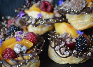 Fruit and Chocolate Nests