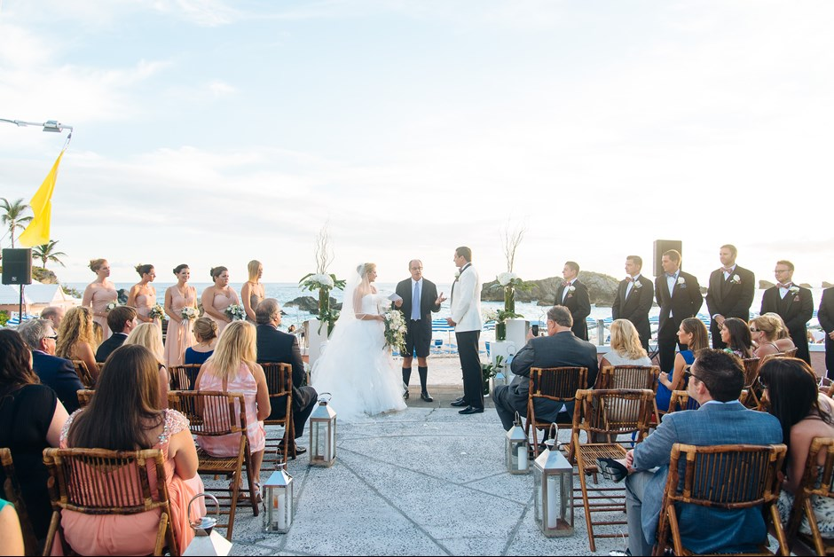 Ceremony overlooking the beach