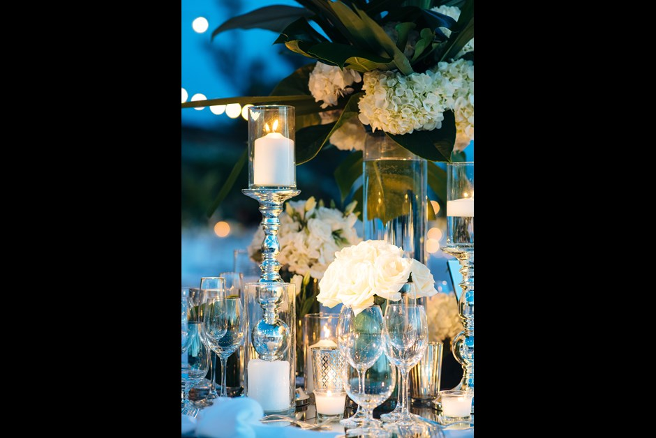 Reception tables at Ocean Club - BY GLDN Events