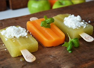 Organic Green Apple, Ginger & Goat Cheese Popsicles