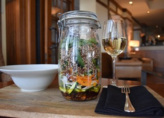 Upside Down Tremblant Quinoa Salad in a Jar