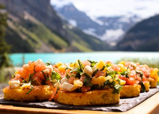 Watermelon Orange Feta Bruschetta