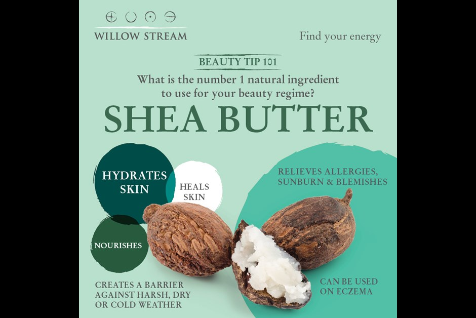 Willow Stream Spa Beauty Tip 101 - Shea Butter