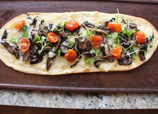 Wild Mushroom Pizza with Roof Top Herbs and Palliser Honey
