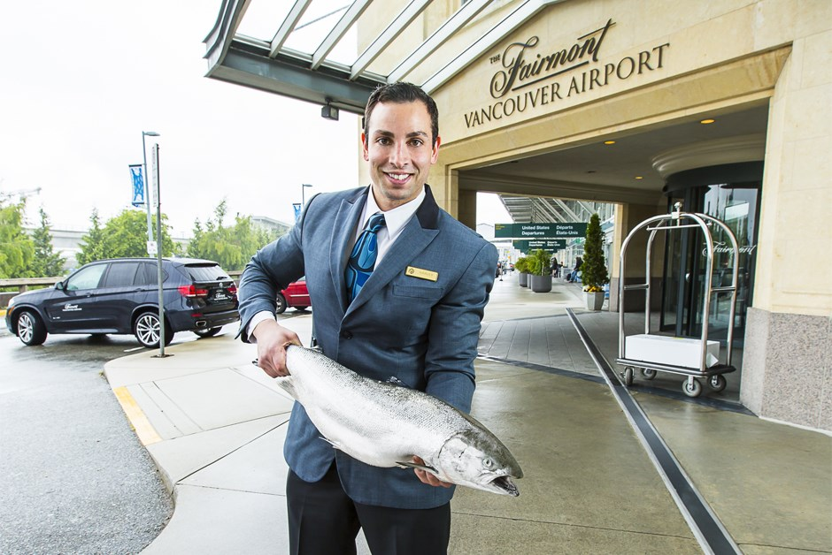 Meet the Fish Valet at Fairmont Vancouver Airport