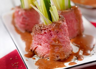 Beef Tri-tip 'Sushi' with Szechwan-style Sauce