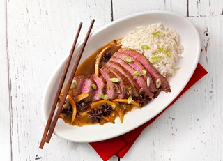 Oven Roasted Orange Beef Tri-Tip with Shanghainese Sauce