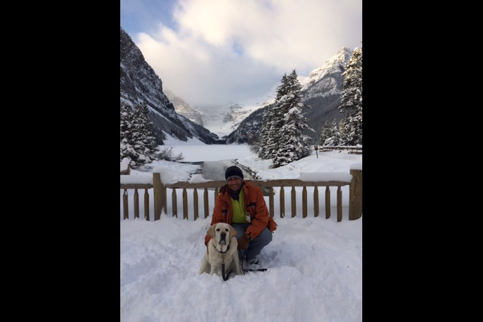 Typical Monday a.m. at Fairmont Lake Louise with Marcus