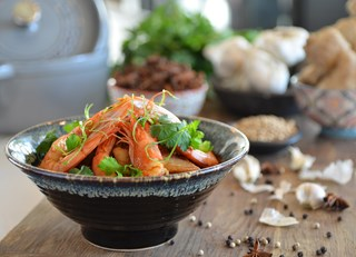 Shrimp and Glass Noodle Hot Pot