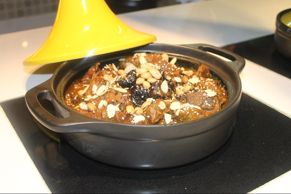 Moroccan Lamb Tagine with Caramelized Prunes