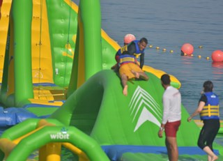 Aqua Bounce is Fujairah's first ever waterpark